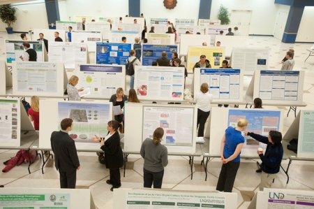 Aerial view of the poster session