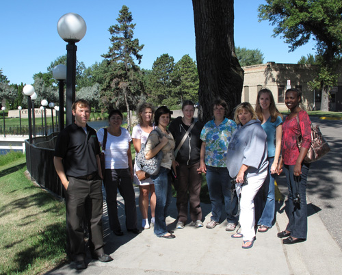 Advanced Public Health Nursing students tour campus